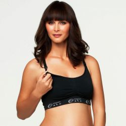 Cake Cotton Candy Seamless Nursing Bra Black