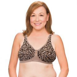 Trulife 210 Exotic Latte Barbara Lace Accent Softcup Pocketed Bra