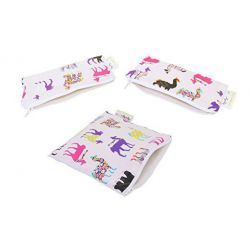 Itzy Ritzy Llama Glama Mini-Snack & Snack Combo Happened Reusable Bags